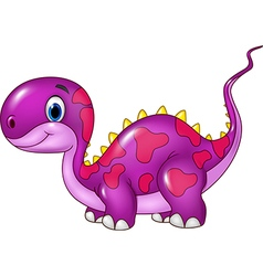 Cute baby dinosaur posing isolated vector