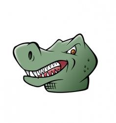 dinosaur t-rex head vector image