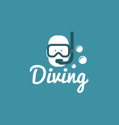 diving logo design vector image