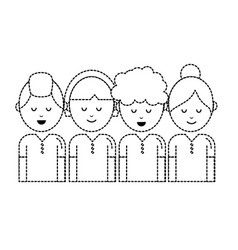 dotted shape people with hairstyle design and vector image