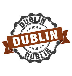 Dublin round ribbon seal vector