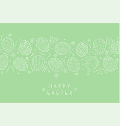 easter holiday green background with hand vector image