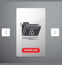 encryption files folder network secure glyph icon vector image