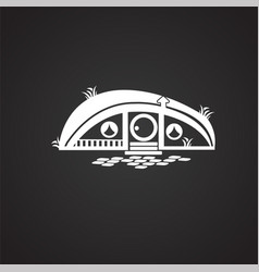 fairytale house on black background vector image