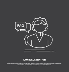 faq assistance call consultation help icon line vector image