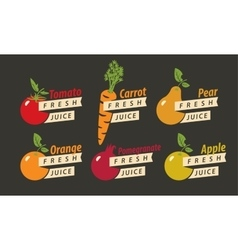 fruits with the names of for fresh juice vector image