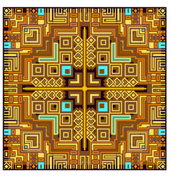 geometric tribal colorful ethnic abstract design vector image