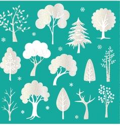 Glitter trees vector