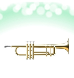 Golden Trumpet vector image
