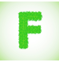 Grass letter F vector