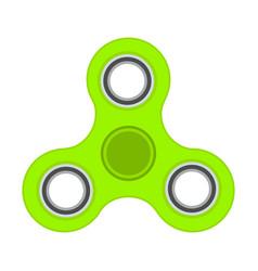 green anti-stress toy fidget finger spinner vector image