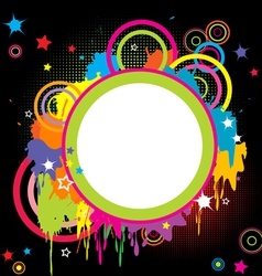 Grunge colored splashes vector