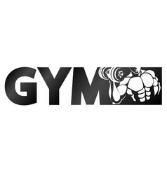 gym symbol for sports vector image