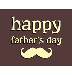 Happy Fathers day greeting template background vector