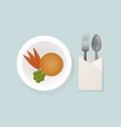 healthy breakfast food top view vector image