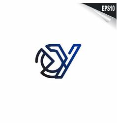 initial oy logo monogram design template simple vector image