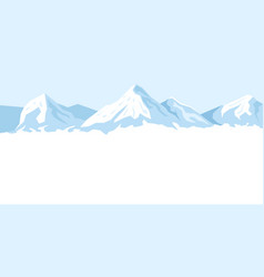 light background with mountains vector image