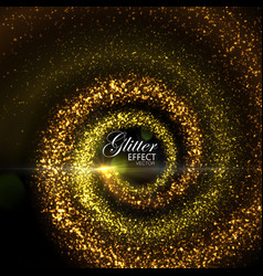 Magic glowing trails particles vector