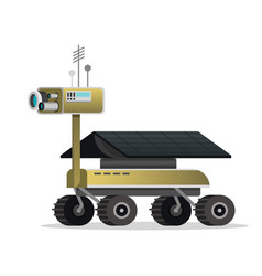 Mars rover for games and mobile modern vector