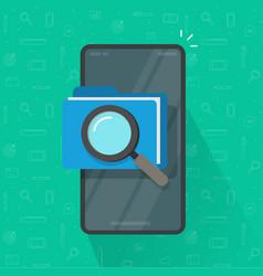 Mobile scan or inspection file folder documents vector