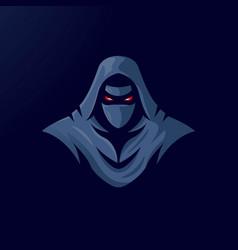 Ninja mascot logo design with modern vector