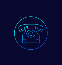 old phone line icon vector image