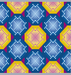 Ornamental tile pattern vector