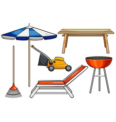 Outdoor objects vector image