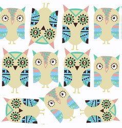 owls abstract nature fantasy kids pattern it is vector image