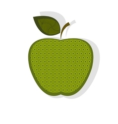 Patterned green apple vector