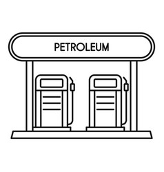 petroleum station icon outline style vector image