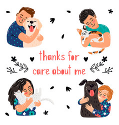 Pets care poster vector