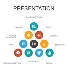 Presentation infographic 10 steps conceptlecturer vector