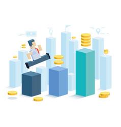 profit the businessman makes a profit the symbol vector image