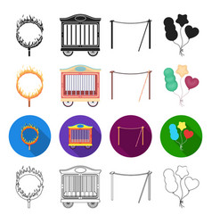 Recreation circus entertainment and other web vector