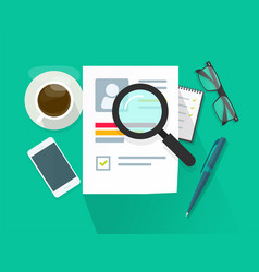 recruitment or employment research concept vector image