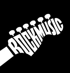 Rock music lettering vector