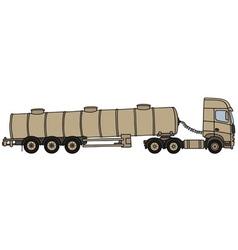 Sand tank semitrailer vector