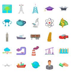 screw icons set cartoon style vector image