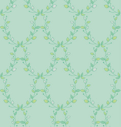 Seamless pattern with drawn branches vector