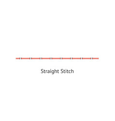 Seamless straight sewing machine or hand basic vector