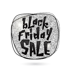 Silver Black Friday Sale vector
