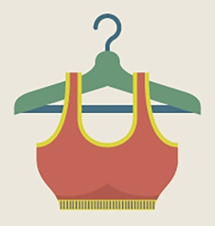 Single Women Sport Bra On Hanger vector