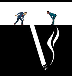 Smoking cigarette smoking harmful vector