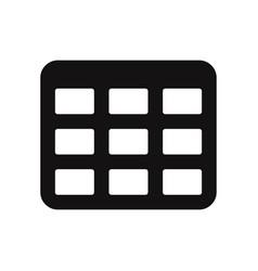 table grid icon vector image