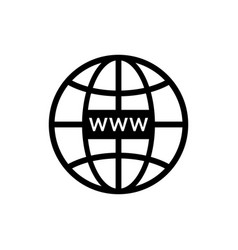 Web site icon www symbol for internet domain and vector