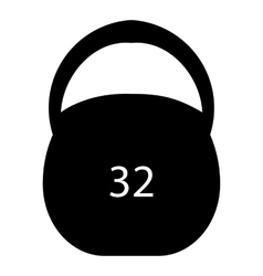 Weight thirty two pounds icon simple style vector