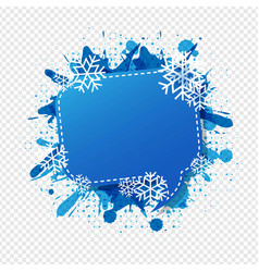 Winter speech bubble isolated transparent vector
