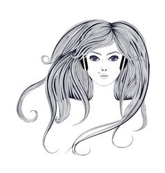Woman with Long Hair2 vector
