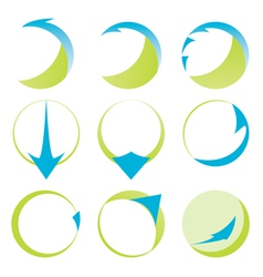 Abstract ribbons and arrows icons vector image